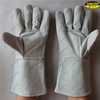 Manufacturer cow split leather long welding safety glove