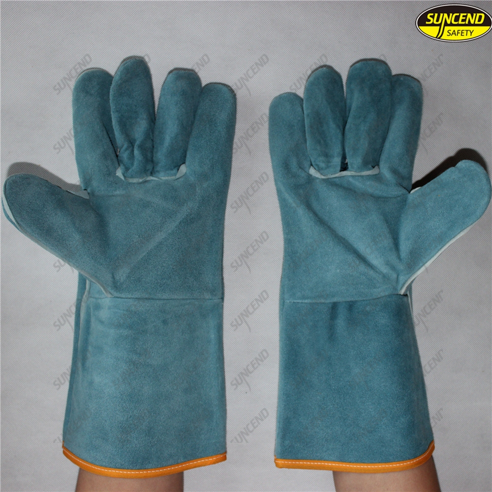 cow split leather welder welding working gloves