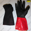 Cotton coated sandy finished PVC wholesale work gloves