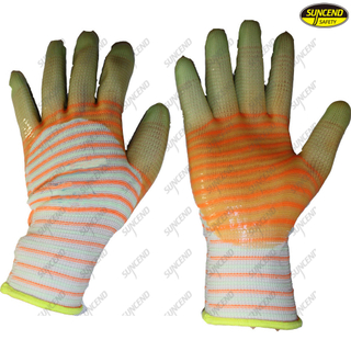 Colorful 3/4 pvc coated cotton safety gloves