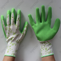 Latex Palm Coated Foam Finish Hand Protective Work Gloves
