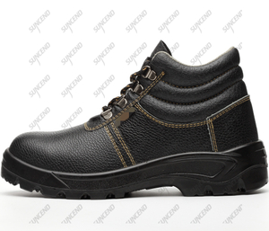 Mesh liner genuine cow leather pu sole injection leather shoes