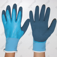 Nylon/polyester Double Dipped Foam Nitrile Gloves
