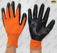 U3 liner nitrile coated gloves
