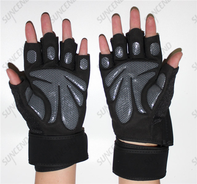 ProFitness Cross Training Gloves with Wrist Support Non-Slip Palm Silicone Padding to Avoid Calluses