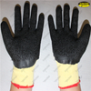 Polycotton liner 3/4 latex coated crinkle finish work gloves