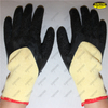 Polyester liner 3/4 latex coated crinkle finish work gloves